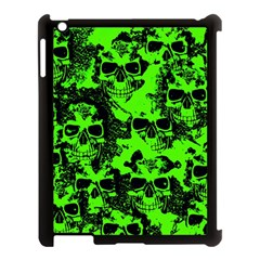 Cloudy Skulls Black Green Apple Ipad 3/4 Case (black) by MoreColorsinLife