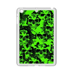Cloudy Skulls Black Green Ipad Mini 2 Enamel Coated Cases by MoreColorsinLife