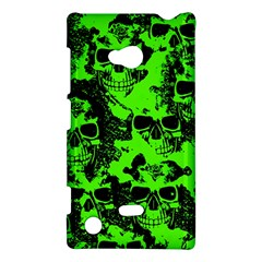 Cloudy Skulls Black Green Nokia Lumia 720 by MoreColorsinLife