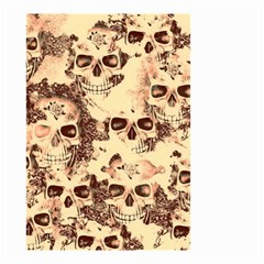 Cloudy Skulls Beige Small Garden Flag (two Sides) by MoreColorsinLife