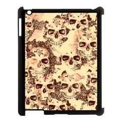 Cloudy Skulls Beige Apple Ipad 3/4 Case (black) by MoreColorsinLife