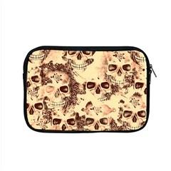 Cloudy Skulls Beige Apple Macbook Pro 15  Zipper Case by MoreColorsinLife
