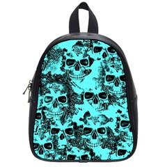 Cloudy Skulls Aqua School Bags (small)  by MoreColorsinLife