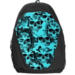 Cloudy Skulls Aqua Backpack Bag by MoreColorsinLife