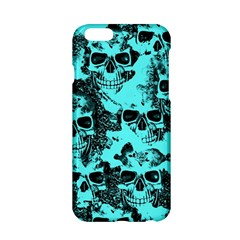 Cloudy Skulls Aqua Apple Iphone 6/6s Hardshell Case by MoreColorsinLife