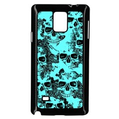 Cloudy Skulls Aqua Samsung Galaxy Note 4 Case (black) by MoreColorsinLife
