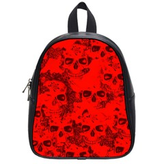 Cloudy Skulls Red School Bags (small)  by MoreColorsinLife