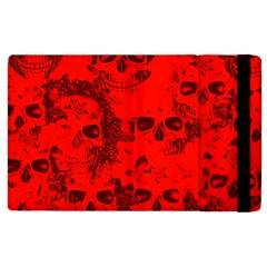 Cloudy Skulls Red Apple Ipad 3/4 Flip Case by MoreColorsinLife