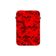 Cloudy Skulls Red Apple Ipad Mini Protective Soft Cases by MoreColorsinLife