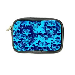 Cloudy Skulls Blue Coin Purse by MoreColorsinLife