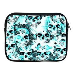 Cloudy Skulls White Aqua Apple Ipad 2/3/4 Zipper Cases by MoreColorsinLife