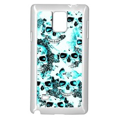 Cloudy Skulls White Aqua Samsung Galaxy Note 4 Case (white) by MoreColorsinLife