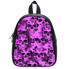Cloudy Skulls Pink School Bags (small)  by MoreColorsinLife
