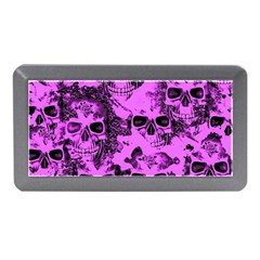 Cloudy Skulls Pink Memory Card Reader (mini) by MoreColorsinLife