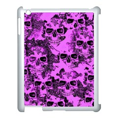 Cloudy Skulls Pink Apple Ipad 3/4 Case (white) by MoreColorsinLife