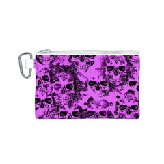 Cloudy Skulls Pink Canvas Cosmetic Bag (s) by MoreColorsinLife