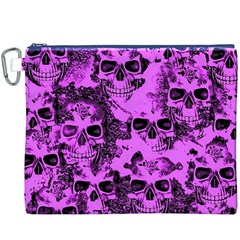 Cloudy Skulls Pink Canvas Cosmetic Bag (xxxl) by MoreColorsinLife