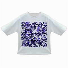 Cloudy Skulls White Blue Infant/toddler T Shirts by MoreColorsinLife