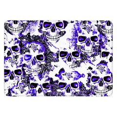 Cloudy Skulls White Blue Samsung Galaxy Tab 8 9  P7300 Flip Case by MoreColorsinLife