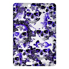 Cloudy Skulls White Blue Amazon Kindle Fire Hd (2013) Hardshell Case by MoreColorsinLife