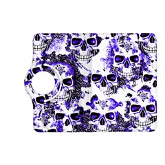 Cloudy Skulls White Blue Kindle Fire Hd (2013) Flip 360 Case by MoreColorsinLife