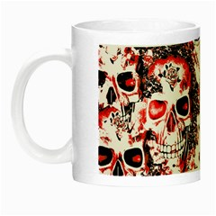 Cloudy Skulls White Red Night Luminous Mugs by MoreColorsinLife