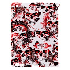 Cloudy Skulls White Red Apple Ipad 3/4 Hardshell Case (compatible With Smart Cover) by MoreColorsinLife