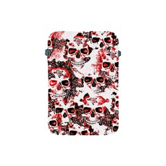Cloudy Skulls White Red Apple Ipad Mini Protective Soft Cases by MoreColorsinLife