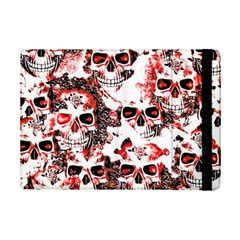 Cloudy Skulls White Red Ipad Mini 2 Flip Cases by MoreColorsinLife