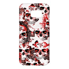 Cloudy Skulls White Red Samsung Galaxy S7 Edge Hardshell Case by MoreColorsinLife