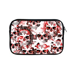 Cloudy Skulls White Red Apple Macbook Pro 13  Zipper Case by MoreColorsinLife