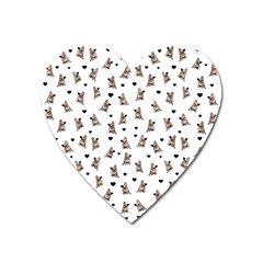 French Bulldog Heart Magnet by Valentinaart