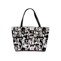Elvis Presley Pattern Shoulder Handbags by Valentinaart