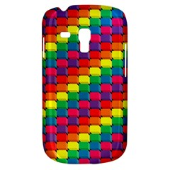 Colorful 3d rectangles     Samsung Galaxy Ace Plus S7500 Hardshell Case by LalyLauraFLM