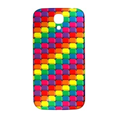 Colorful 3d rectangles     Samsung Note 2 N7100 Hardshell Back Case by LalyLauraFLM