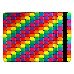 Colorful 3d Rectangles     Samsung Galaxy Tab Pro 10 1  Flip Case by LalyLauraFLM