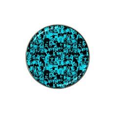 Elvis Presley Pattern Hat Clip Ball Marker by Valentinaart