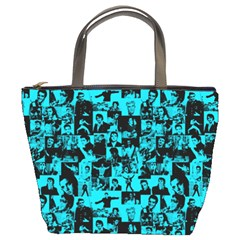 Elvis Presley Pattern Bucket Bags by Valentinaart