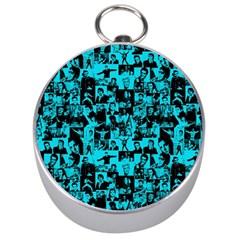 Elvis Presley Pattern Silver Compasses by Valentinaart