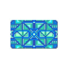 Grid Geometric Pattern Colorful Magnet (name Card) by Nexatart