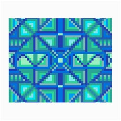 Grid Geometric Pattern Colorful Small Glasses Cloth by Nexatart