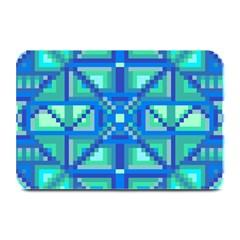 Grid Geometric Pattern Colorful Plate Mats by Nexatart