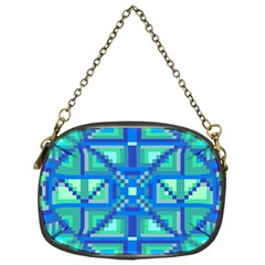 Grid Geometric Pattern Colorful Chain Purses (one Side)  by Nexatart