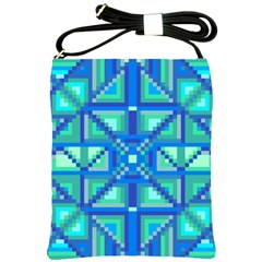Grid Geometric Pattern Colorful Shoulder Sling Bags by Nexatart
