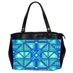 Grid Geometric Pattern Colorful Office Handbags (2 Sides)  by Nexatart