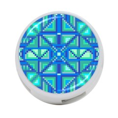 Grid Geometric Pattern Colorful 4 Port Usb Hub (one Side) by Nexatart