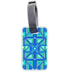 Grid Geometric Pattern Colorful Luggage Tags (one Side)  by Nexatart