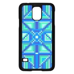 Grid Geometric Pattern Colorful Samsung Galaxy S5 Case (black) by Nexatart