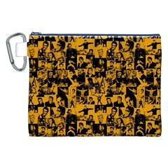 Elvis Presley Pattern Canvas Cosmetic Bag (xxl) by Valentinaart