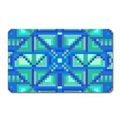 Grid Geometric Pattern Colorful Magnet (rectangular) by Nexatart